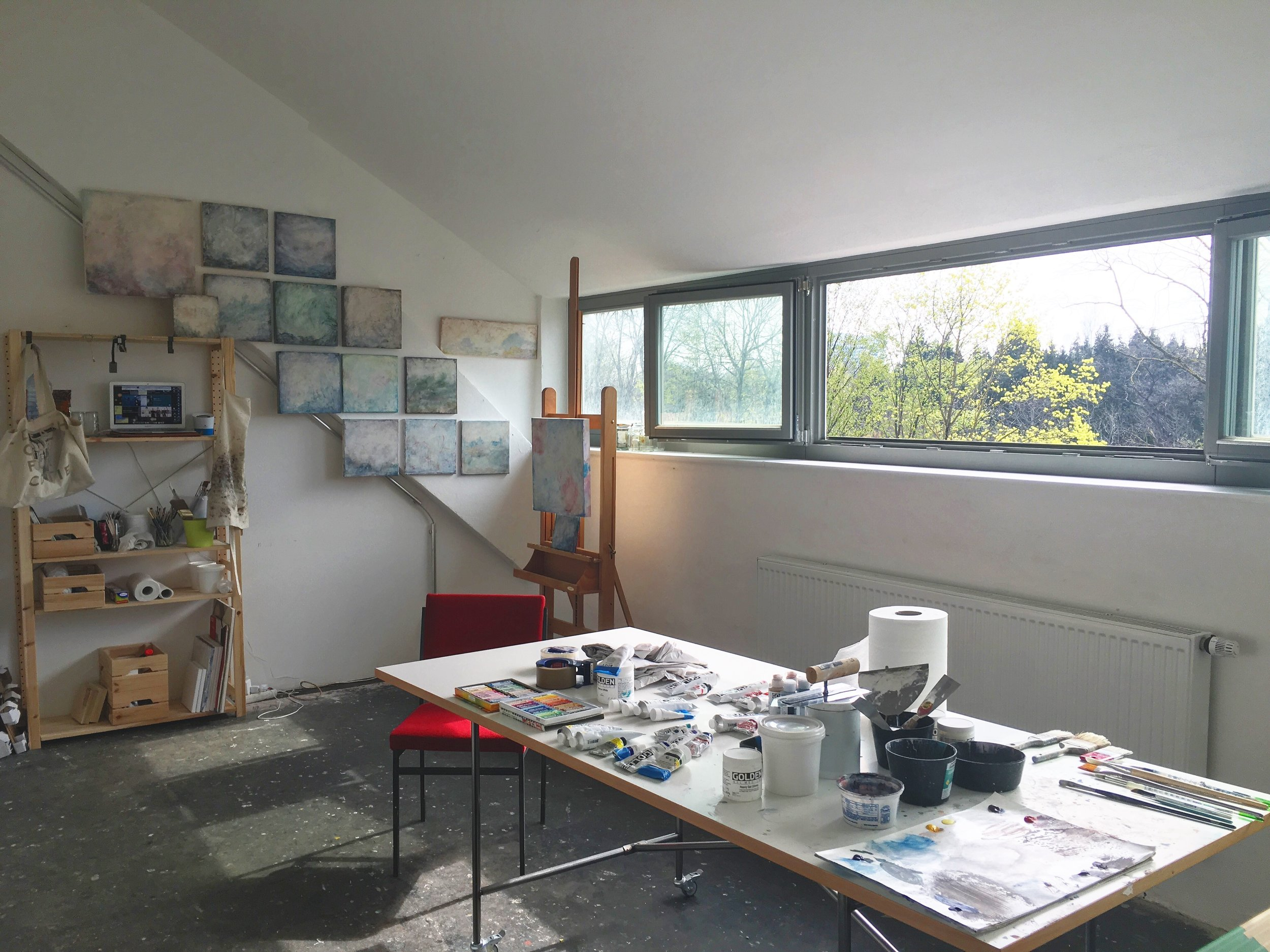 My guest artist studio in the Municipal studio house at Domagkpark. // February to April 2016 // ©2016 Kelli Thompson