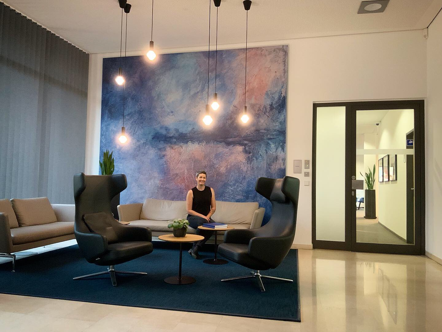 Very proud to sit with my first corporate commission installation at  Wirecard Headquarters  in Munich, Germany.