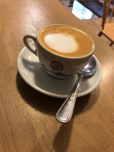Cappuccino at Cafe San Alberto - best in Cartagena!