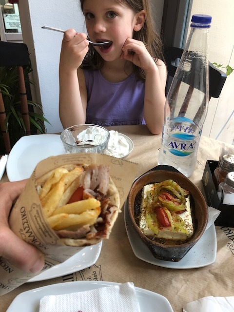 Had no clue that authentic gyros have fries on them?! This was our dinner at Neoklassiko in the Plaka area (next to the Hotel Astor). Our driver from George's Famous taxi said it was the best around, I agree.