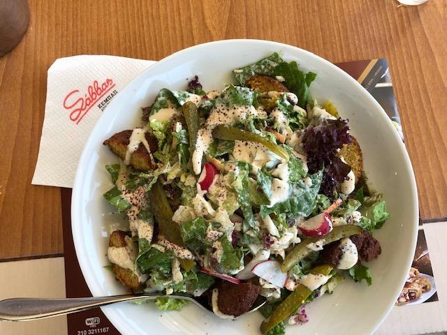 Delish salad at Sabbas