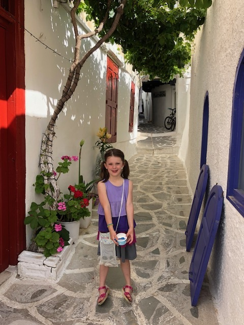 White washed streets in Chora, Naxos
