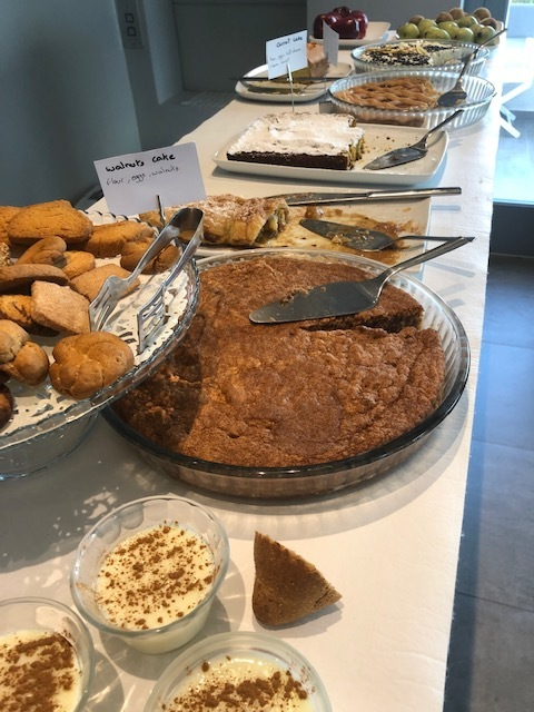 There was a table full of homemade DESSERTS at the breakfast buffet - I tried every single one of them. Rice pudding (which is made daily by Nikoletta's mom) was my favorite
