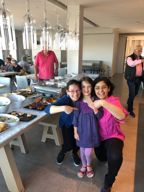 Nikoletta and Marine with Olivia - they both made our trip so so special. Will never forget their incredible hospitality at The Hotel Grotta - can't wait to stay again!!