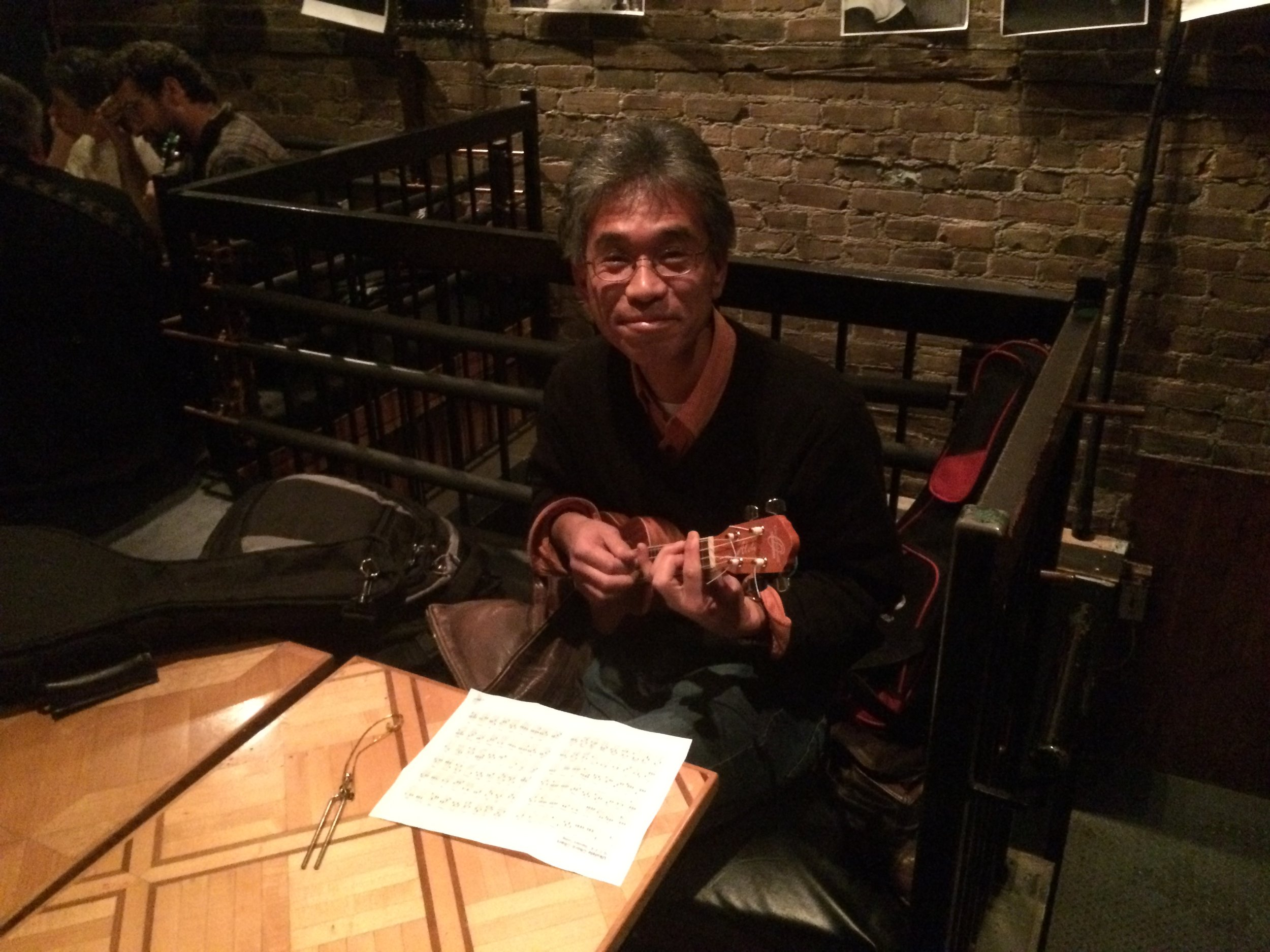 Chris was a speaker at the 2015 Reseau Quebecois en Reproduction (RQR) Symposium in Montreal, Quebec. Shown is Makoto Nagano (McGill University) playing a very small guitar (also called a ukulele). Not shown is Bruce Murphy (University of Montreal), who evidently didn't want to be seen playing a ukulele!? A wonderful trip with a fantastic host (thanks Bruce!).