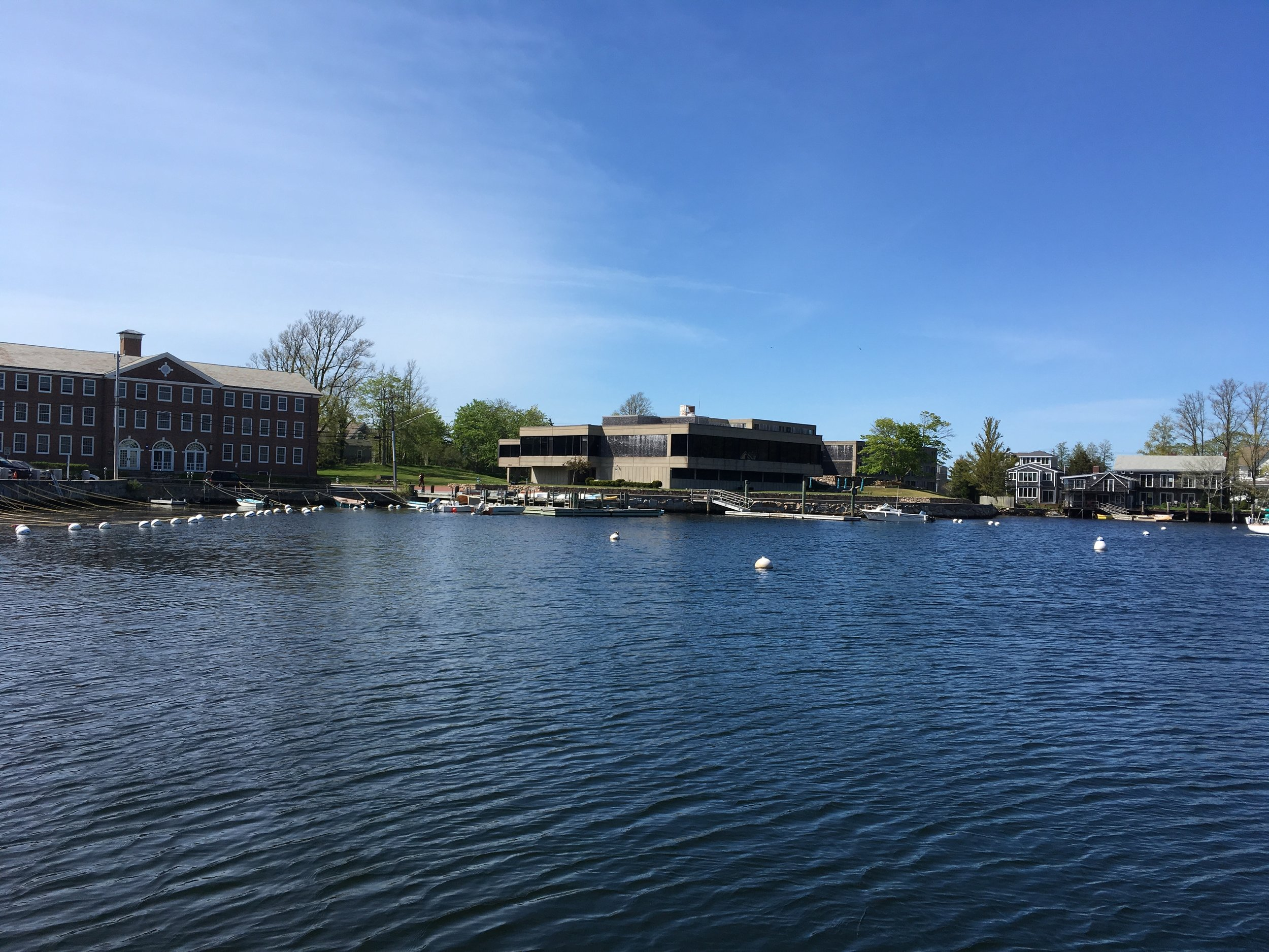 Chris visited the Marine Biological Laboratory at Woods Hole, MA in May 2017 to teach in the  Frontiers in Reproduction  (FIR) course. Pictured in the center, across from Eel Pond, is the Swope Dormitory where faculty and students live and eat during the course.