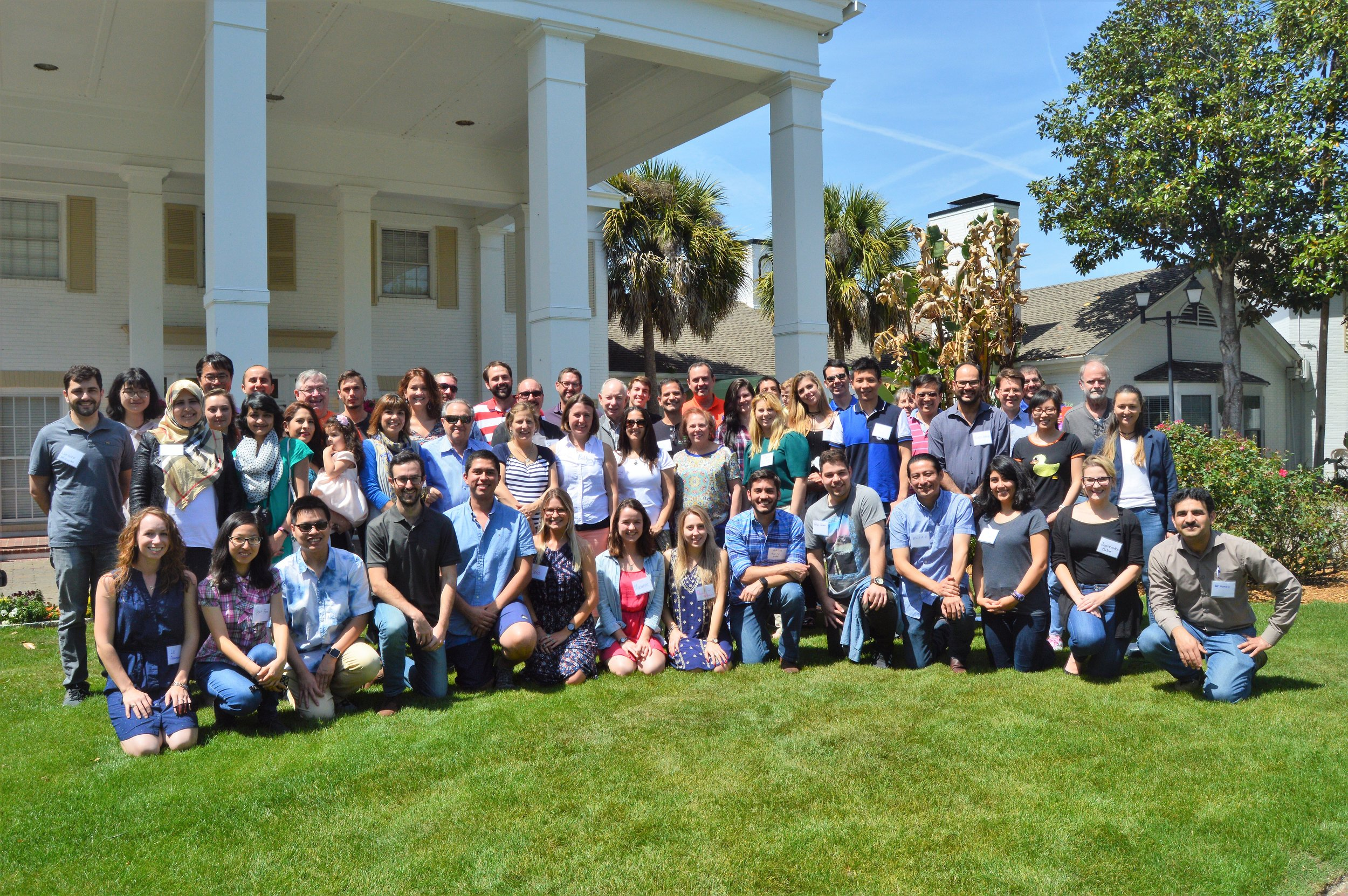 Chris traveled to Gainesville and then Crystal River Florida in April to speak at the 2018 Animal Molecular and Cellular Biology Retreat. Thanks to  Pete Hansen  and  John Bromfield  for hosting, it was a great time! Pictured above are the attendees in front of the conference center in Crystal River.