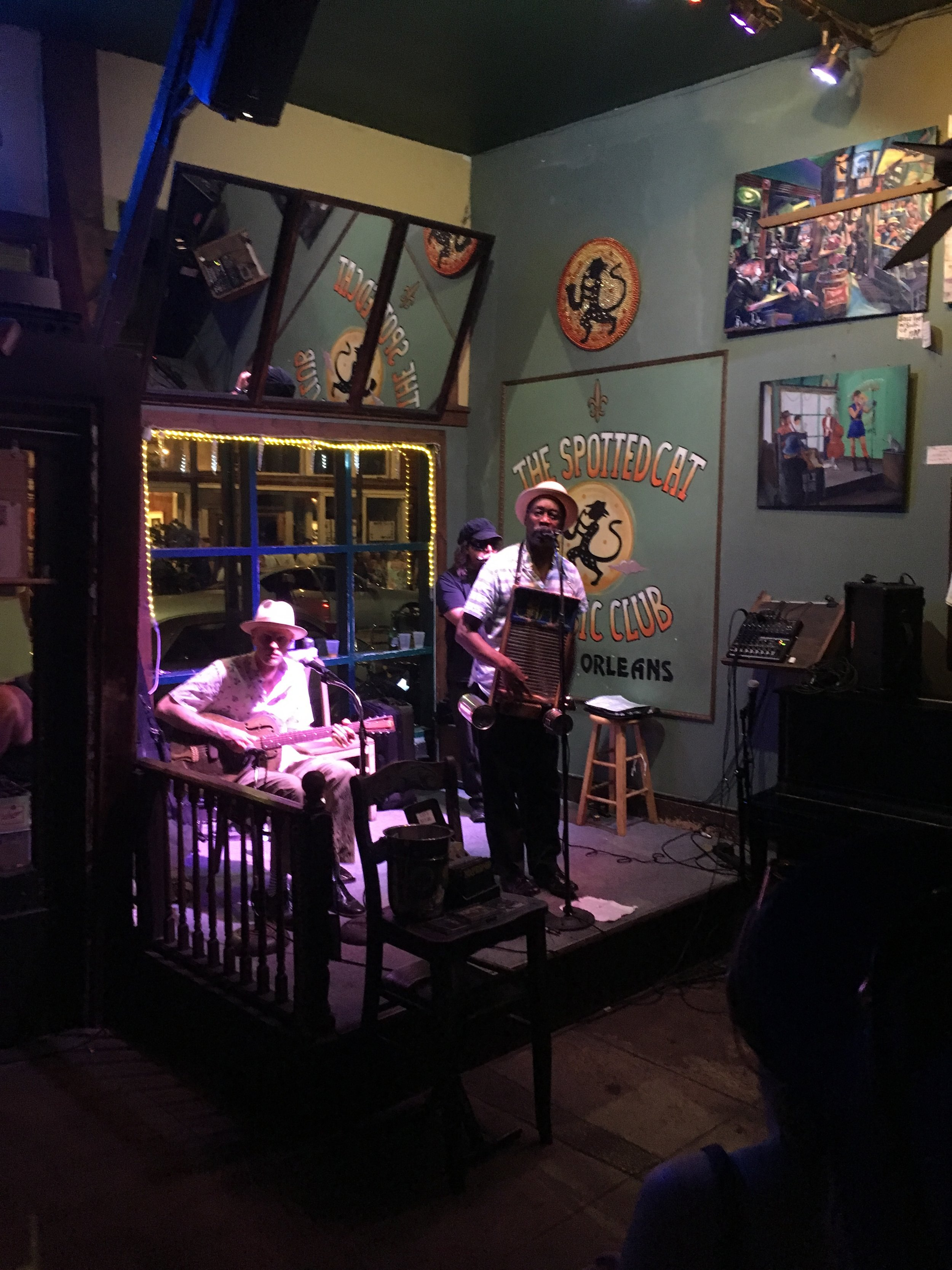 """Chris attended the 51st annual meeting of the Society for the Study of Reproduction meeting in New Orleans, LA. He chaired a Focus Session entitled """"Pathways to Sex Determination"""". While the meeting was not held at the Spotted Cat Music Club (shown above), we did listen to some great local jazz bands there!"""