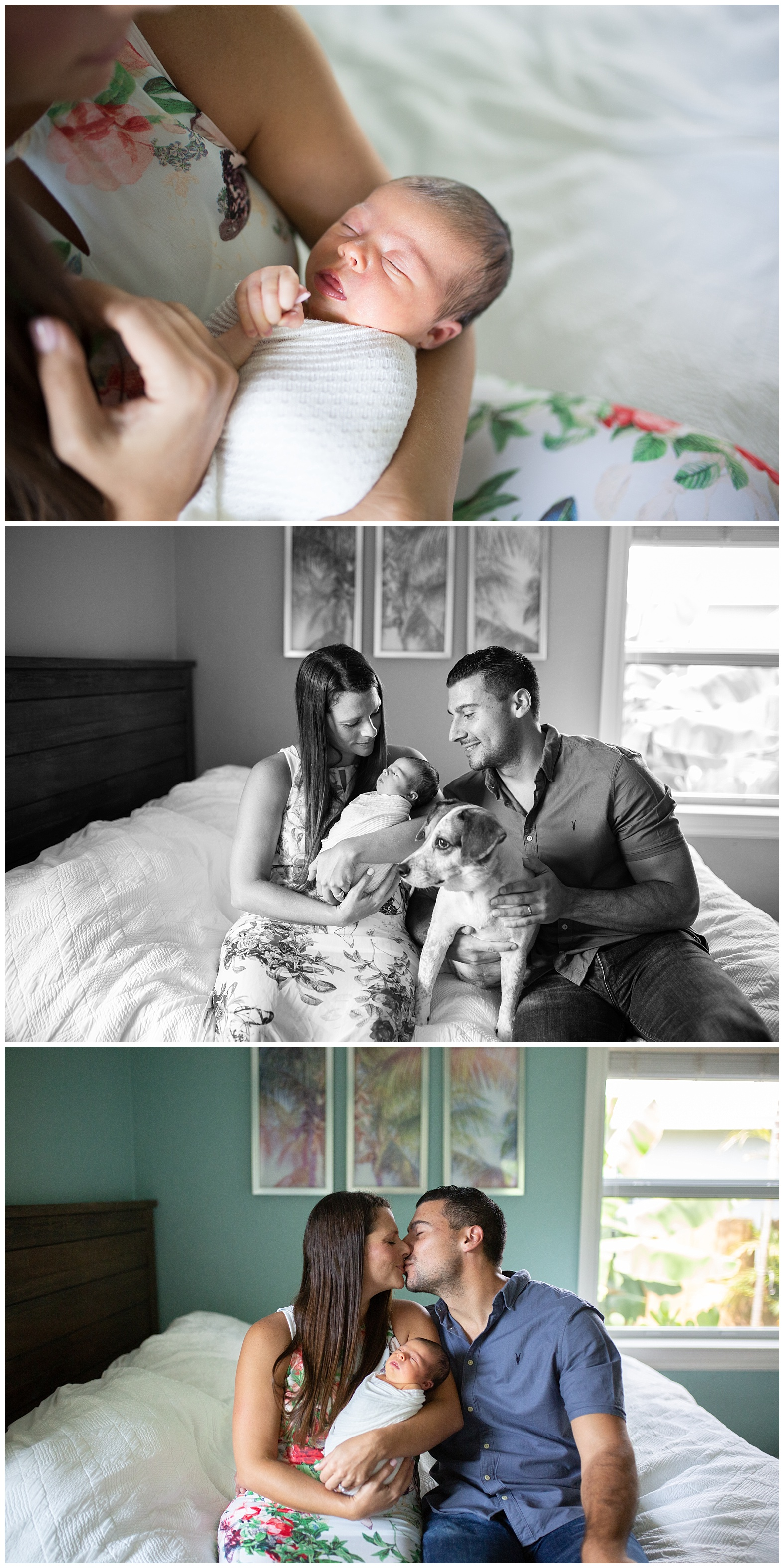 At home newborn Photography session Miami Broward newborn photographer