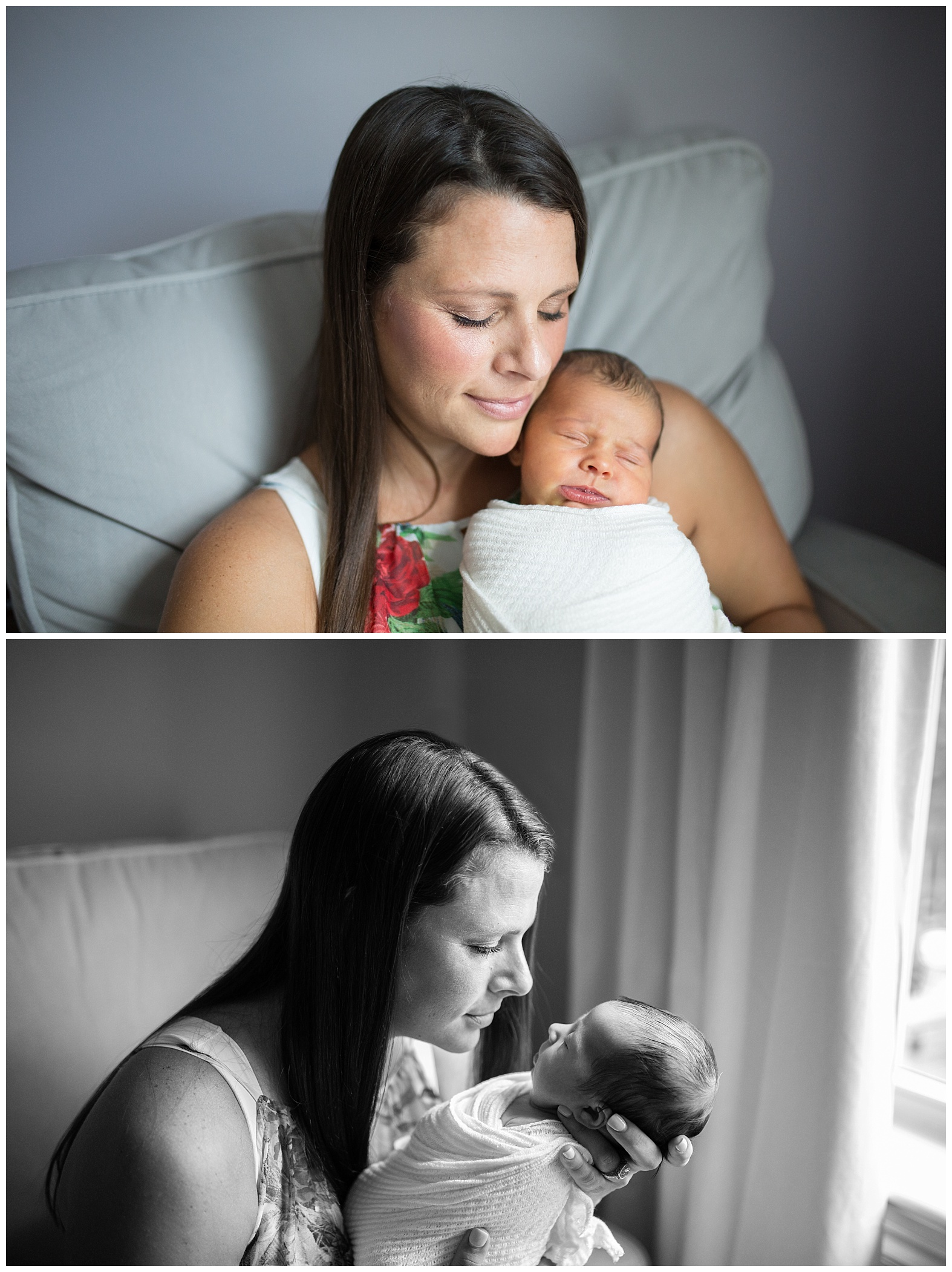 Lifestyle documentary newborn session at home Miami Broward Newborn Photographer