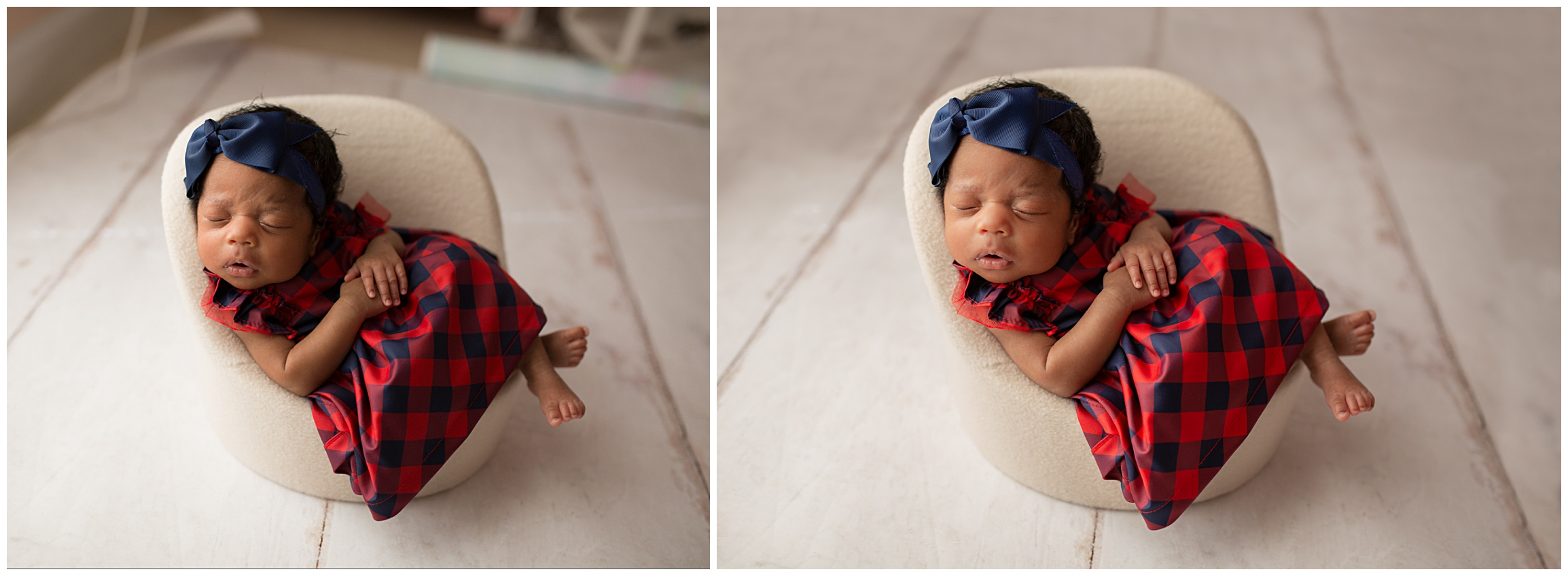 I extended the floor drop that I used for this image because it was a little too short to fit into the image.  This baby was a dream! She slept through it all.