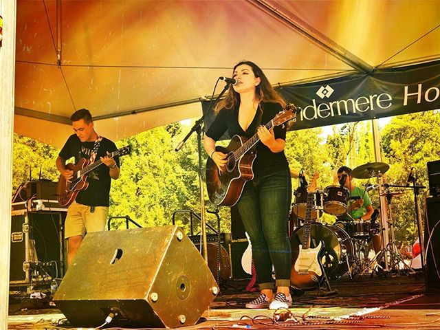 Thank you to all who came out to Summer Celebration!!! PC: Sheri Chifulio  Out next gig is at the 2nd backyard Festival in Fife on July 20!  #mercerisland #summercelebration #exapsos #leahraissis #rocknroll #summerfun #giglife #musicianslife
