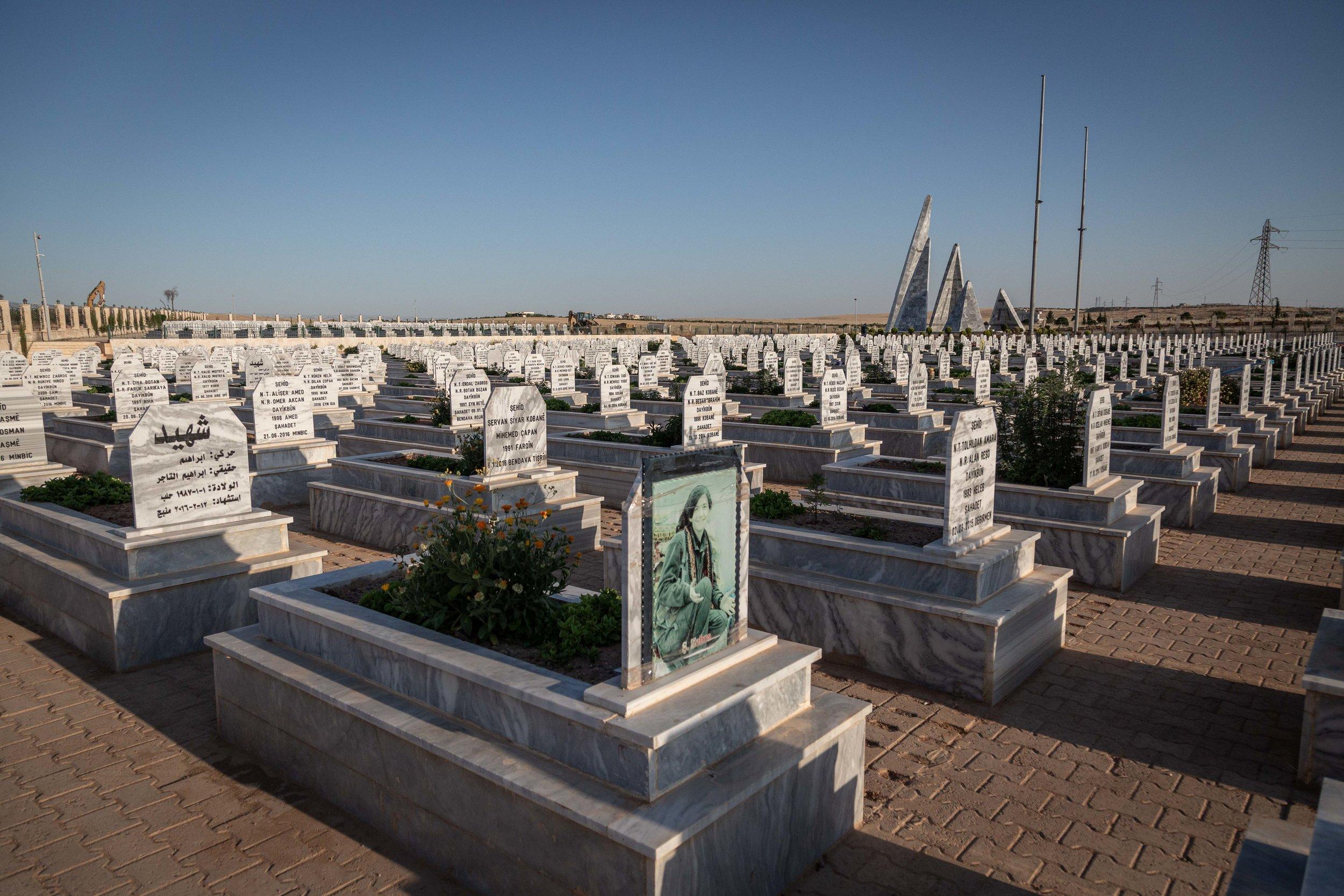 28/05/19, Kobane, Syria - The memorial for the Kurdish fighters fallen in the fight for Kobane.