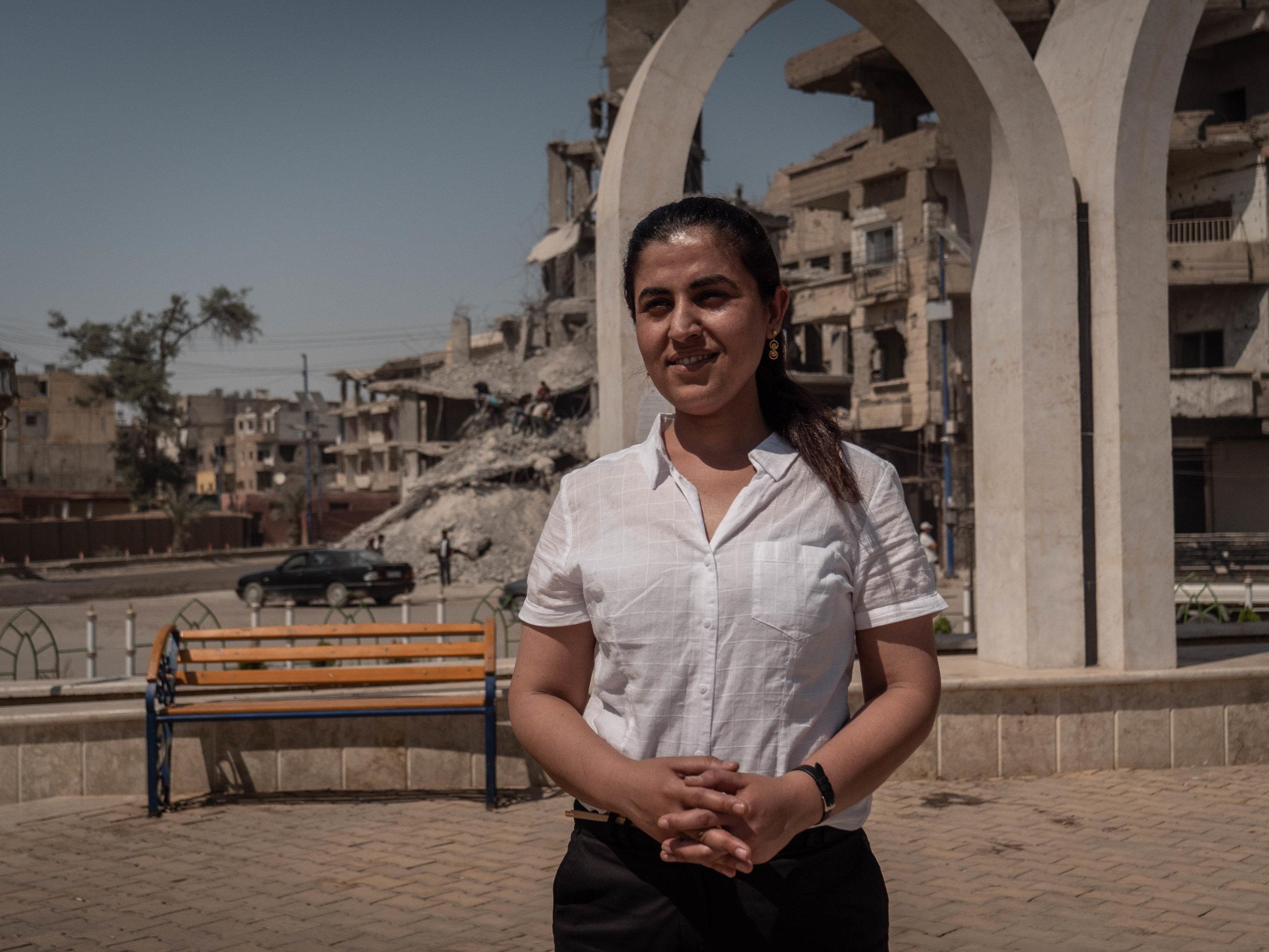 29/05/19, Raqqa, Syria - The mayor of Raqqa Leila Mustafa - she has been appointed mayor by the SDF.