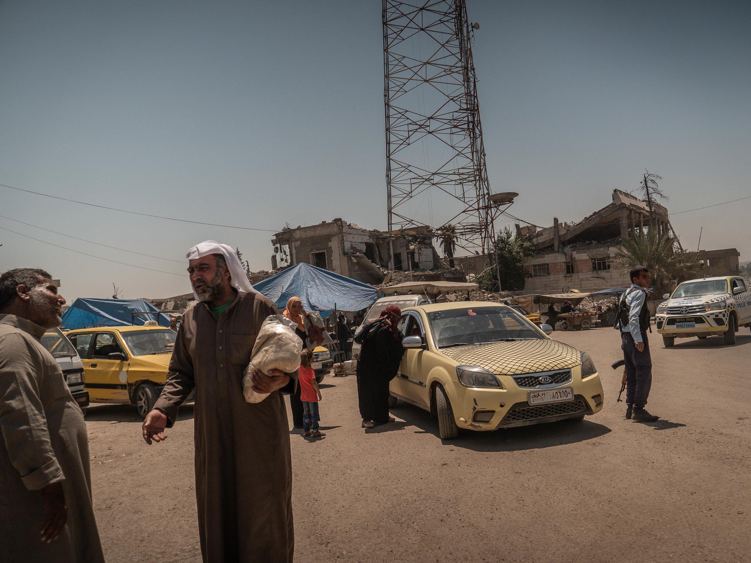 29/05/19, Raqqa, Syria - Street scene in Raqqa.