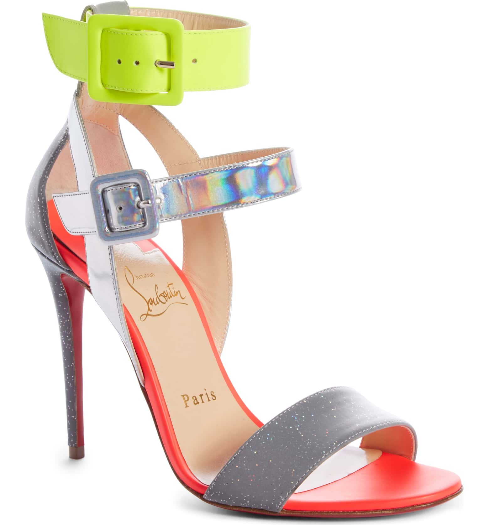 - Christian Louboutin Multipot Buckle Sandal$945