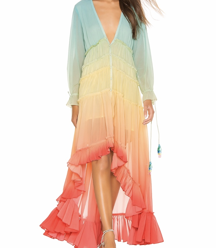 - Rococo Sand High Low Dress$427