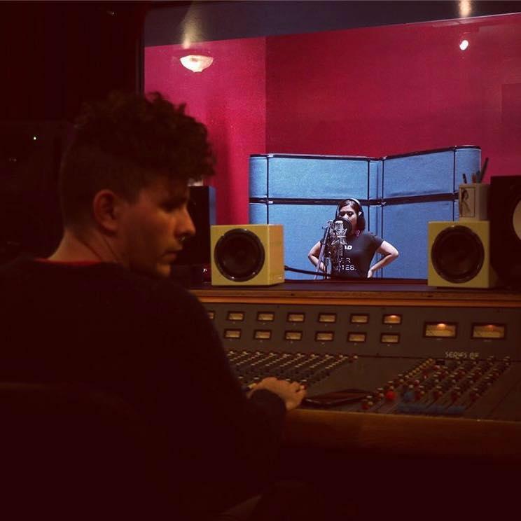 Recording with James Meder at Bird & Egg Recording Studio (Richmond, CA) Photo by Lorenzo Manag