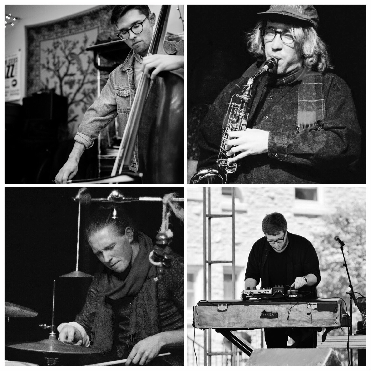 SHAPER - Shaper is a Minneapolis-based quartet that performs original music and collective improvisations. Having no one leader, alto saxist Will Fraser (Wild Firth), pianist Matt Blair (YINS, Collector), bassist Ryan Hays (Sister Species, Matra), and drummer Jack Lussenden (Good Trouble) explore dynamic interplay to create songs and sounds.