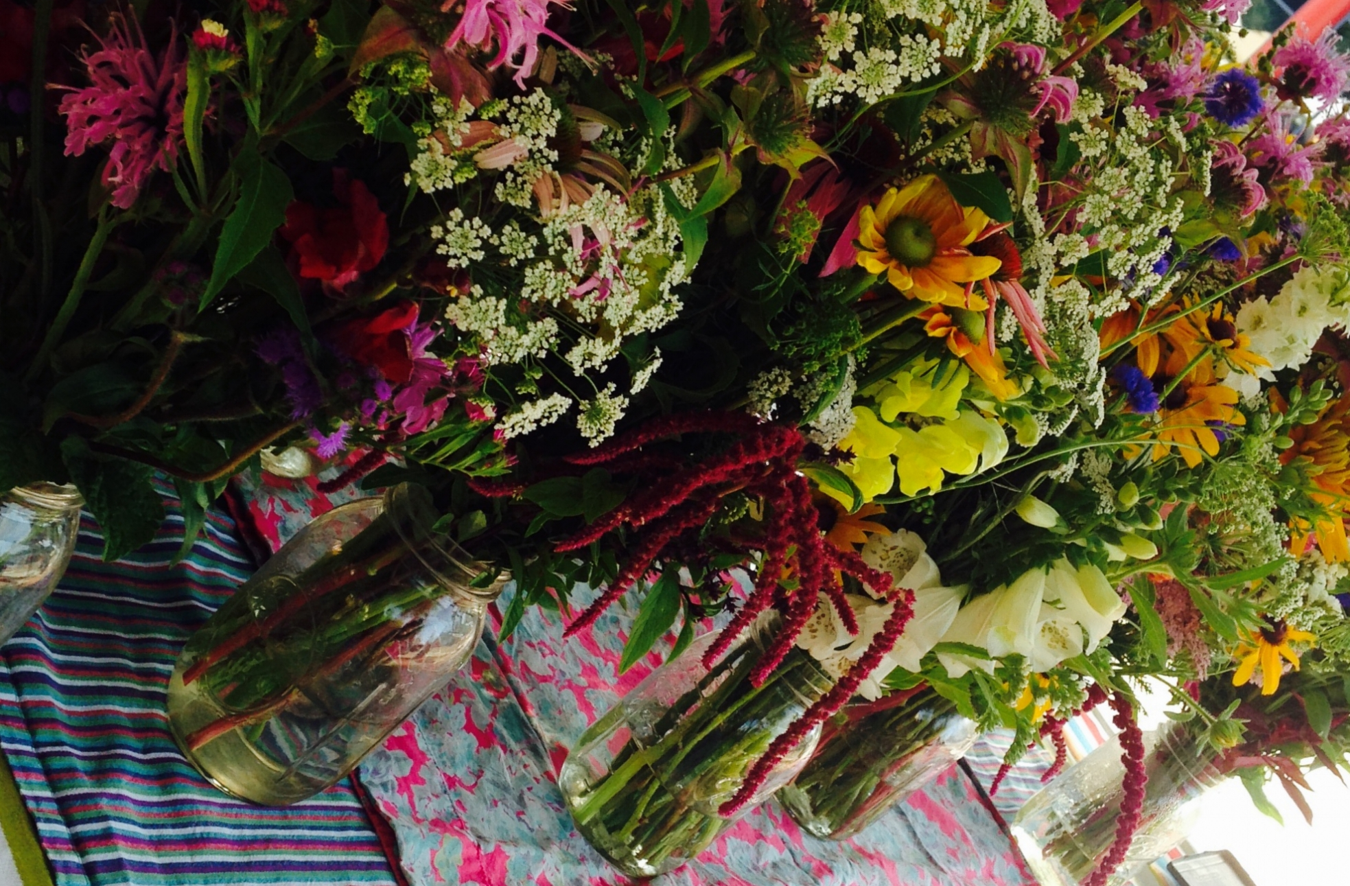 market bouquets across table.jpg