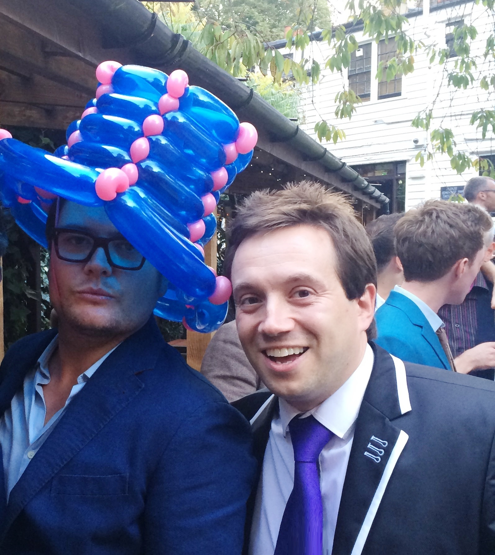 """That's not possible, do it again!"" -  Alan Carr  with Matthew - at Gok Wan's Birthday Party"