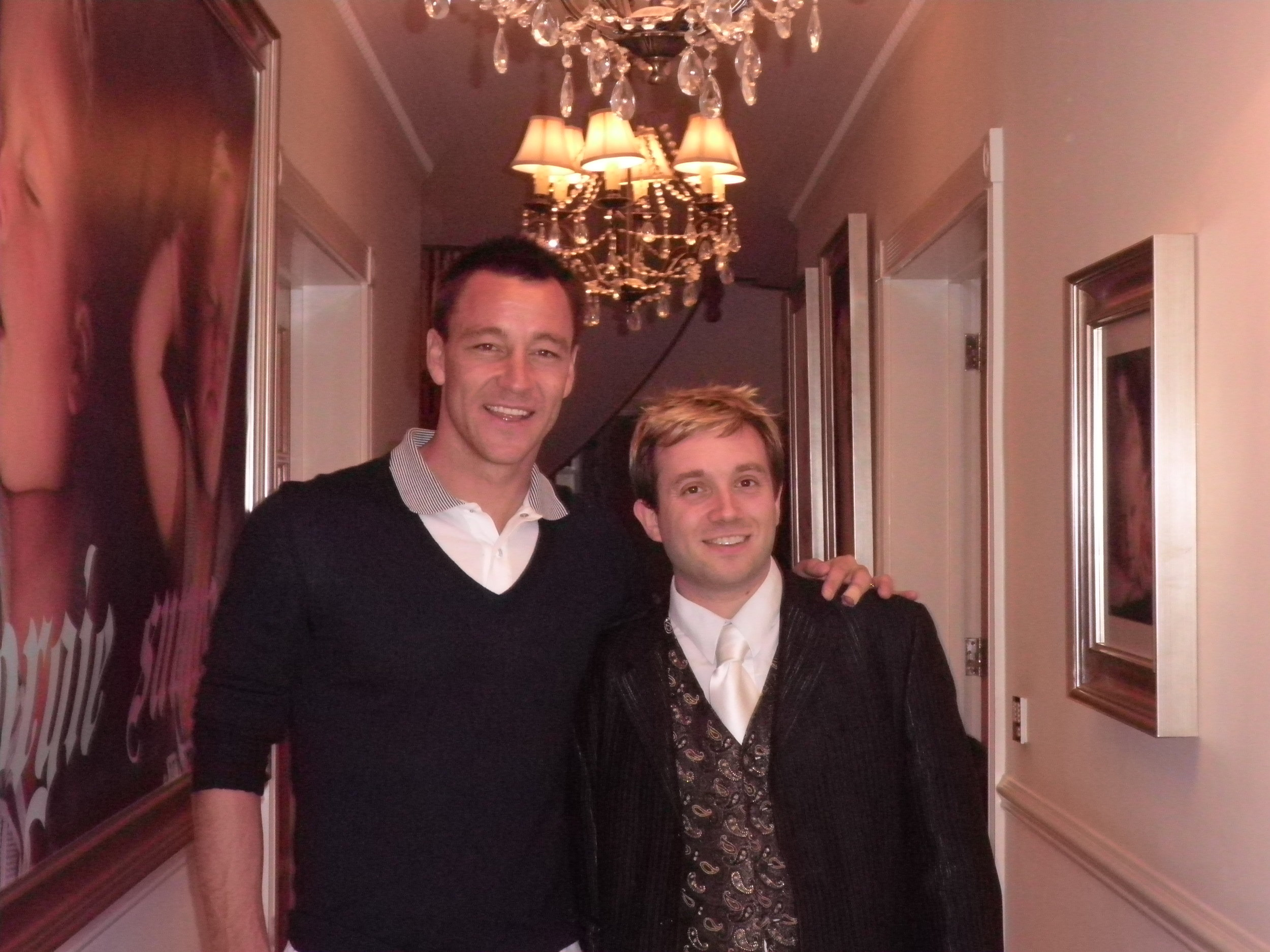 """Thank you Matthew, see you again next year.""  John Terry  England Football Captain at his house party."