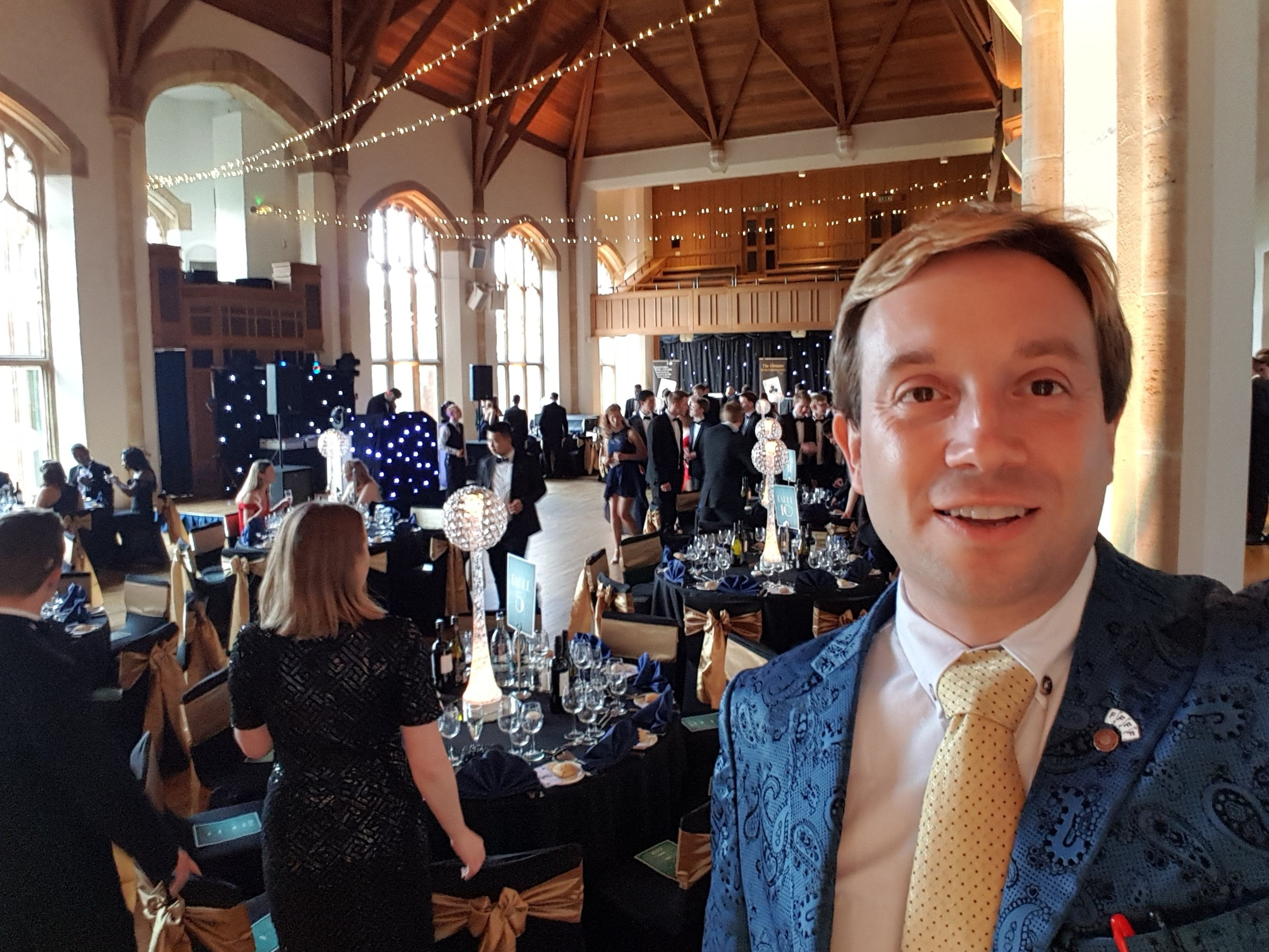 Bedford School. The Great Hall, Leavers Ball Magician