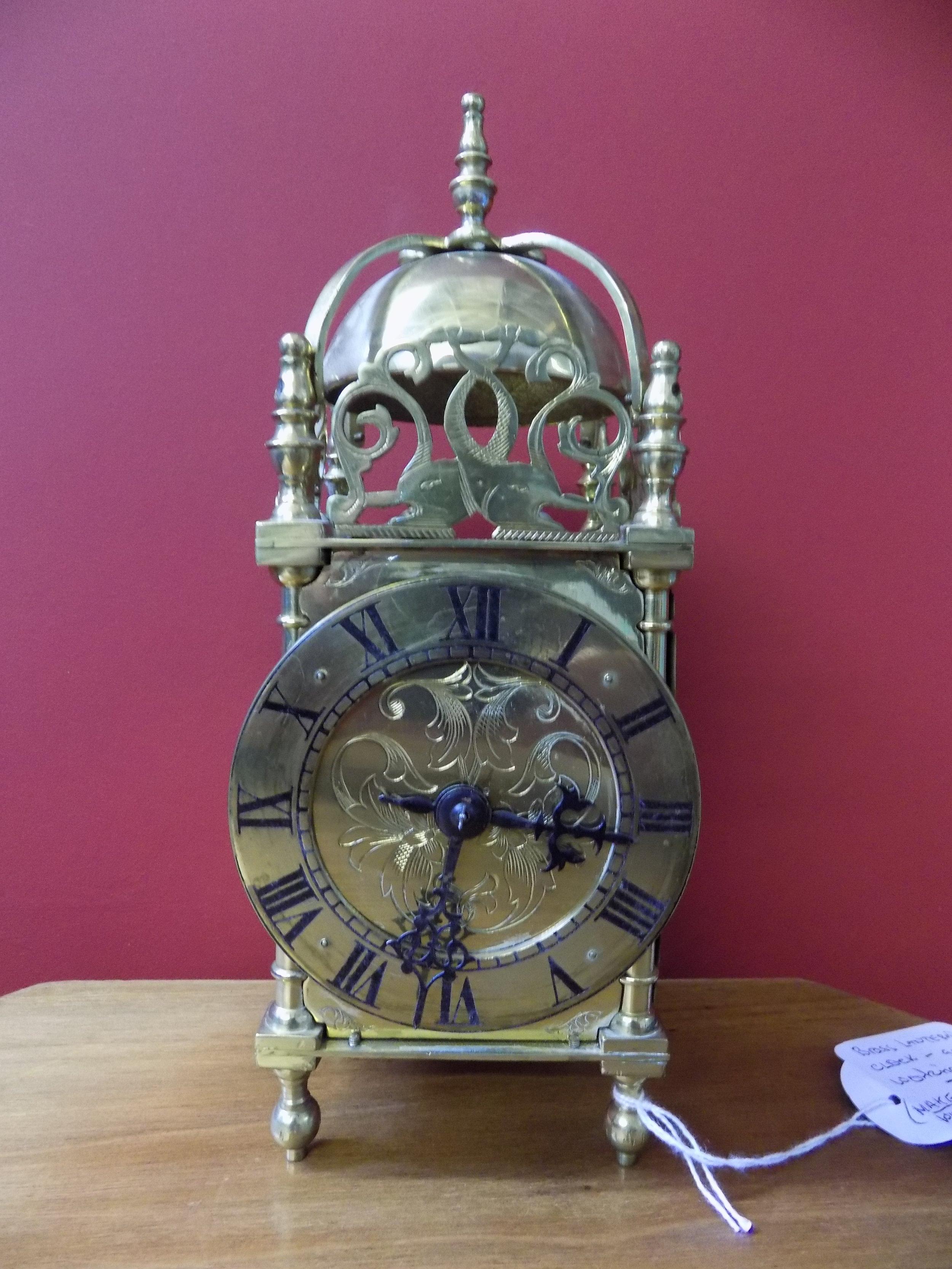 Brass Lantern clock £80.00