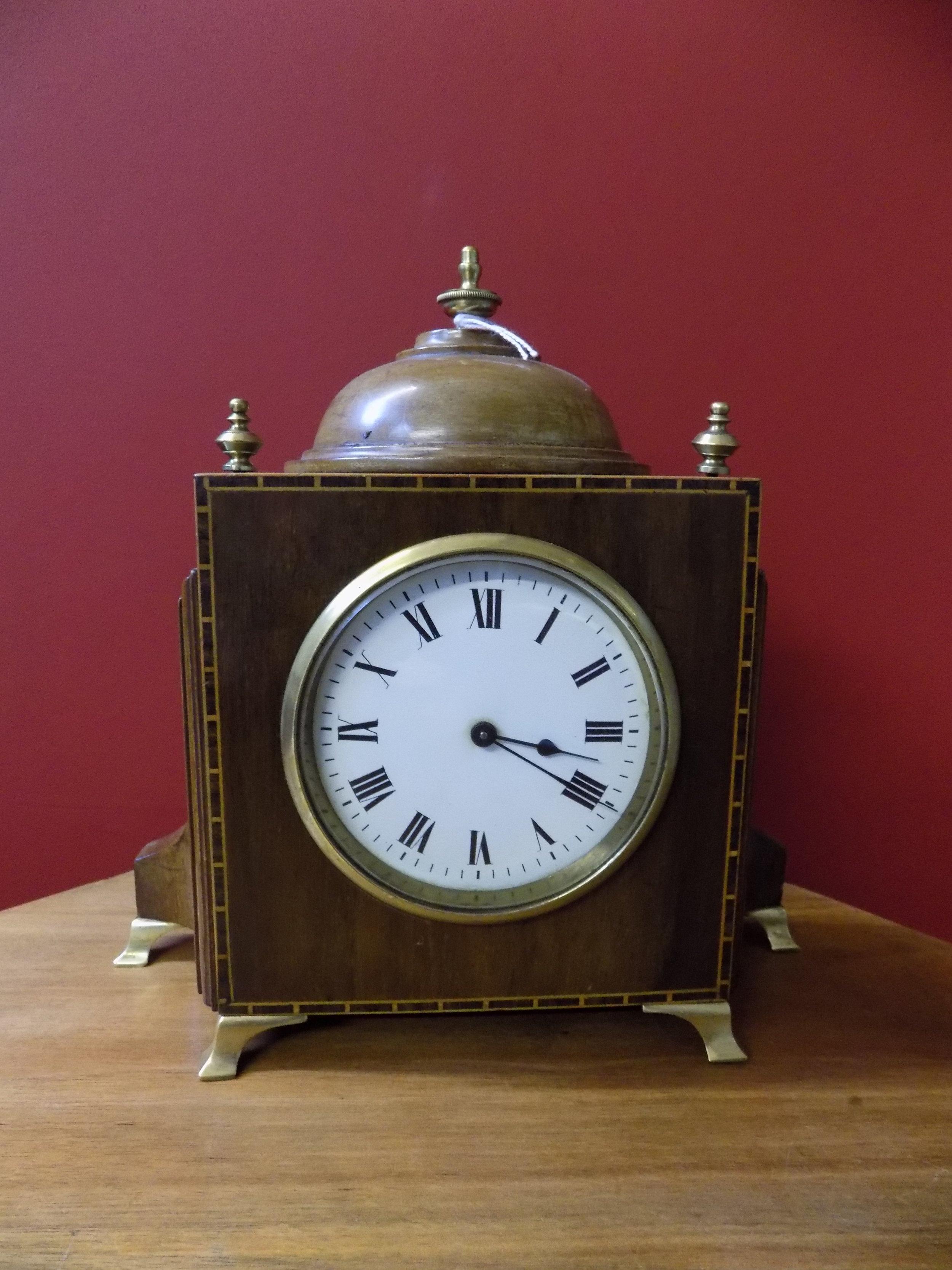 Edwardian Mahogany French mantel clock £160.00