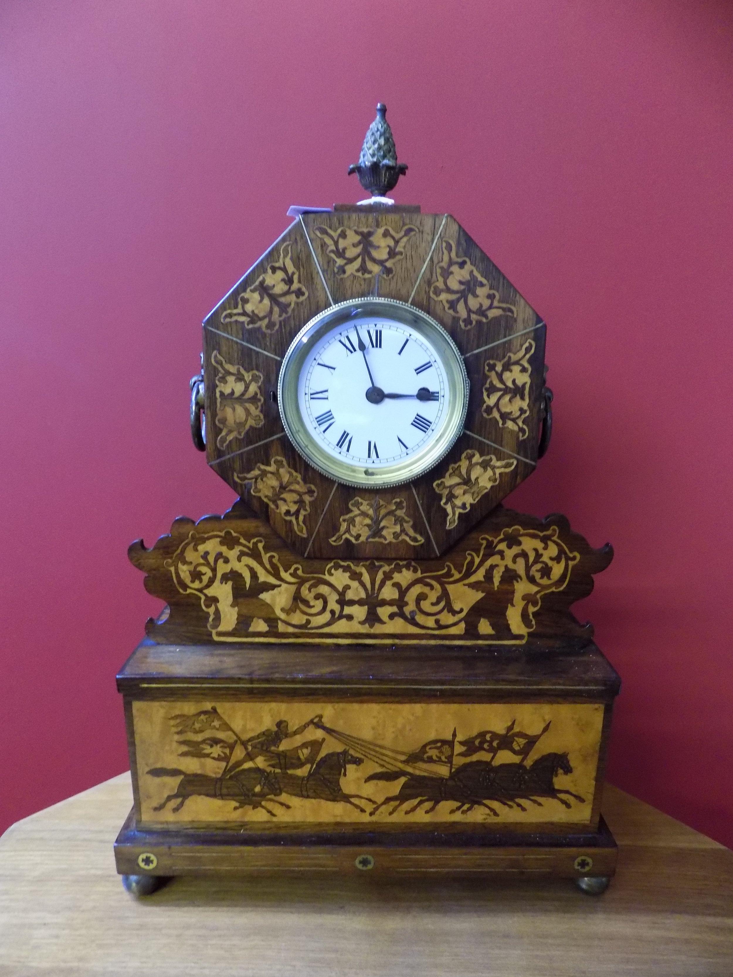 American inlaid mantel clock £240.00