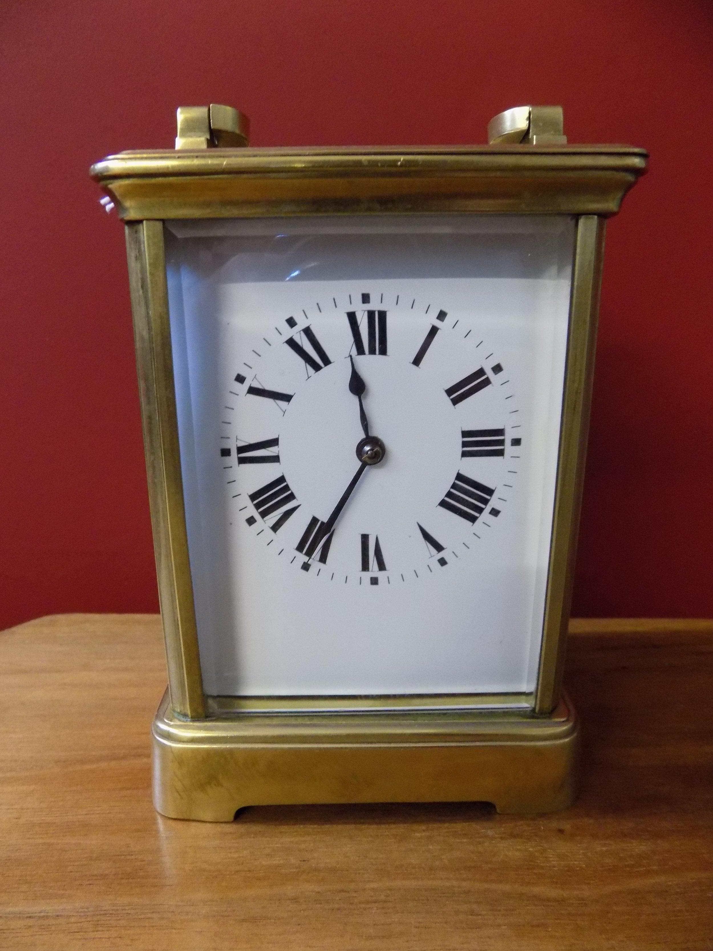 Brass Carriage clock £210.00