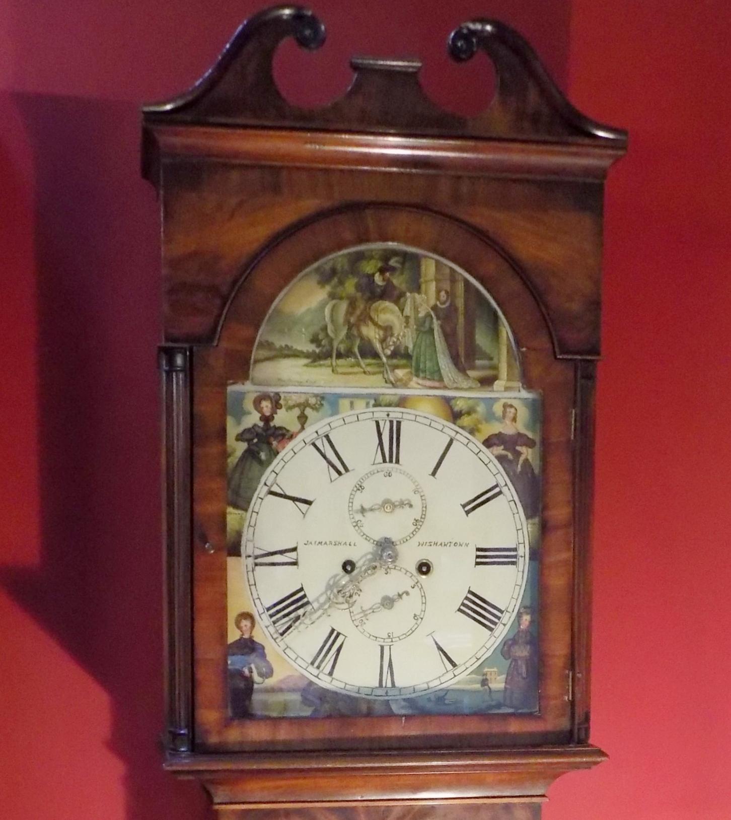 Mahogany longcase clock by James Marshall Wishawtown 1815-1853 £850