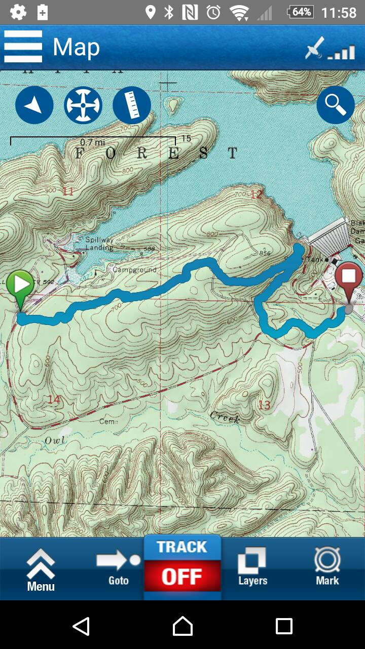 10/01/16 - LOViT Trail East End, Spillway to Avery:  This is part of the  Lake Ouachita Vista Trail .(LOViT) This section was about 2.9 miles long and makes it's way between Spillway and the lower side of Blakely Mountain Dam. The full trail map in PDF can be found  here .