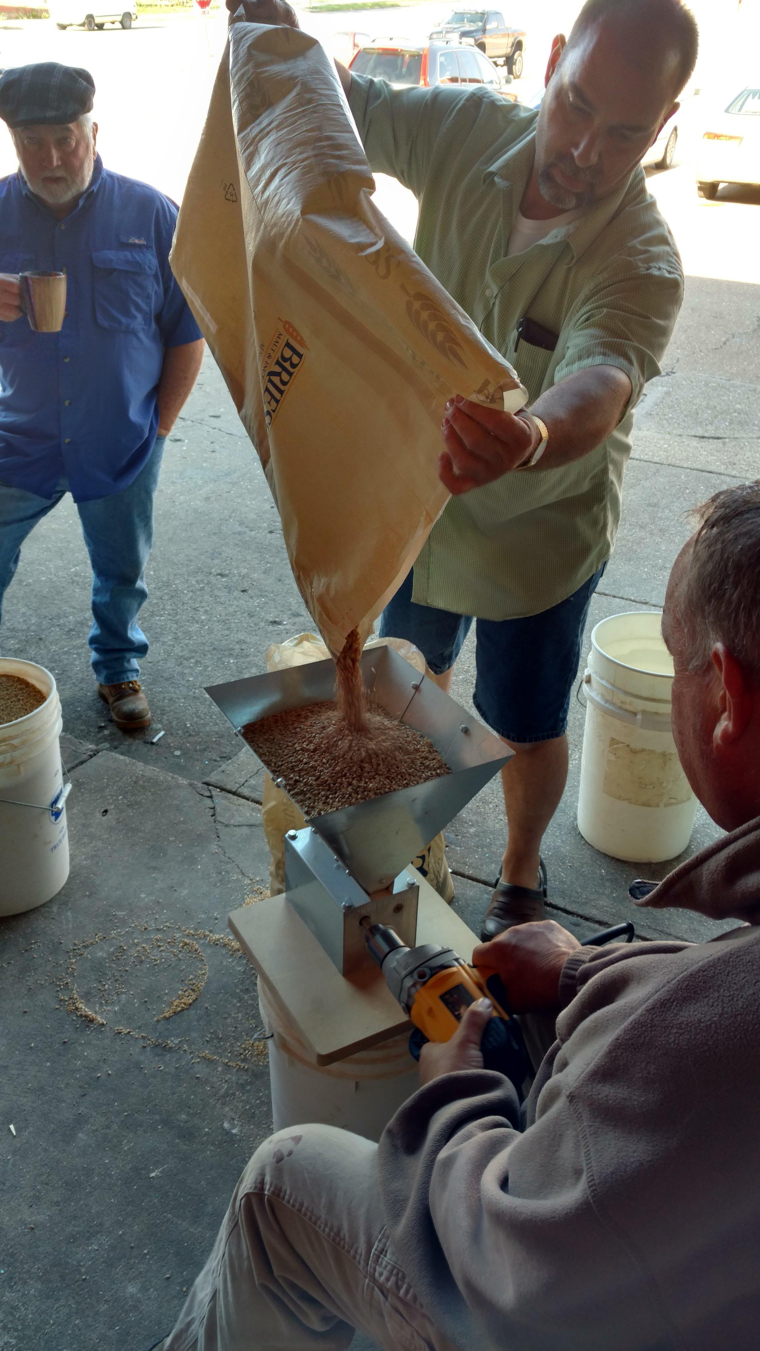 Milling the grain