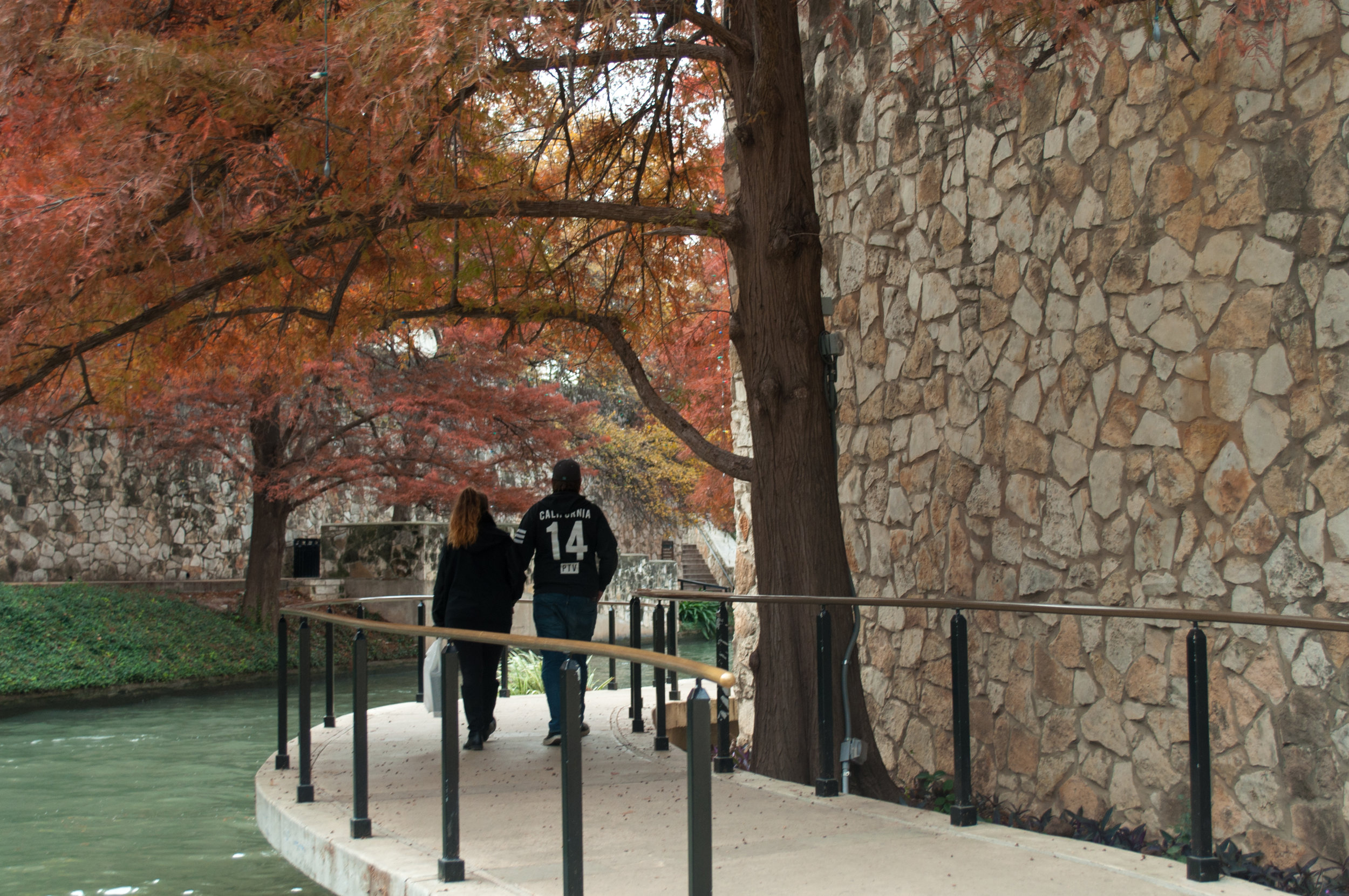 Fall colors and people watching in San Antonio.