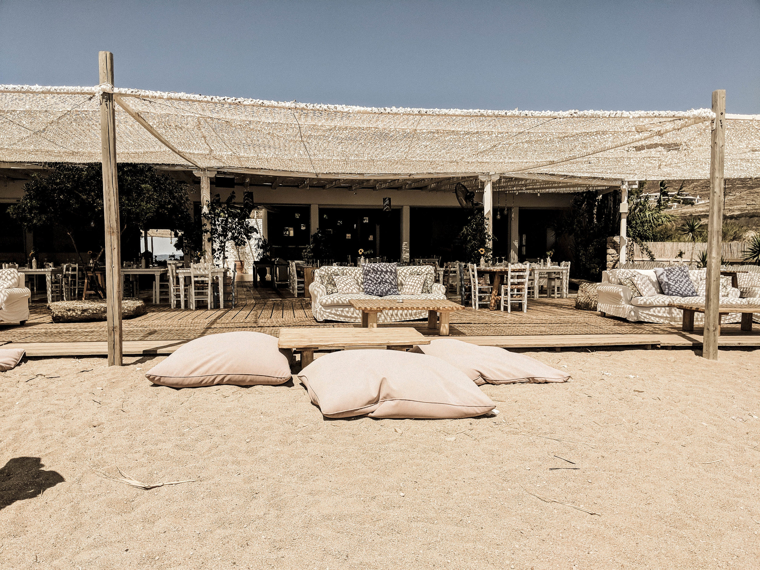 Restaurant Bar Beach Club Liasti  /  on the map  /  @liastimykonos
