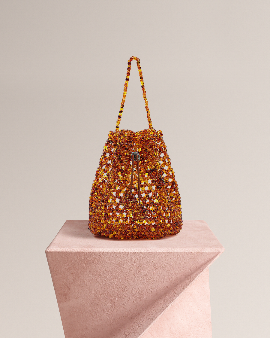Looks Like Summer: Laurie Beads Bucket-Amber $128