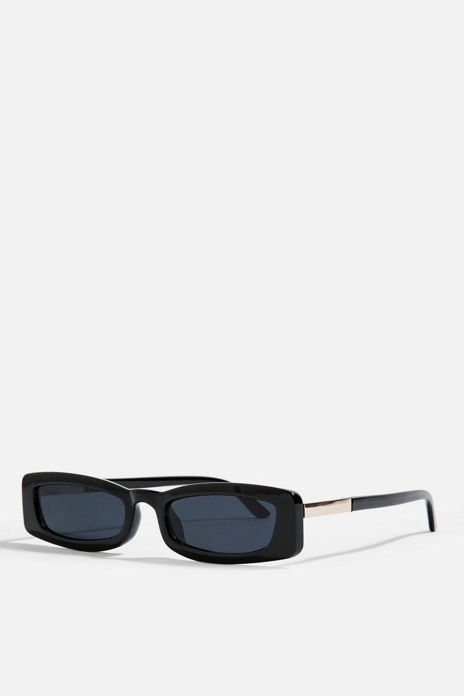 Topshop: NOSTALGIA Rectangle Sunglasses - $