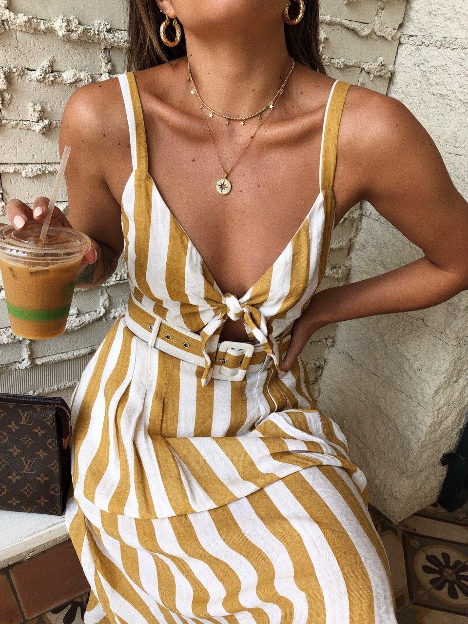 Nina Stripe Dress
