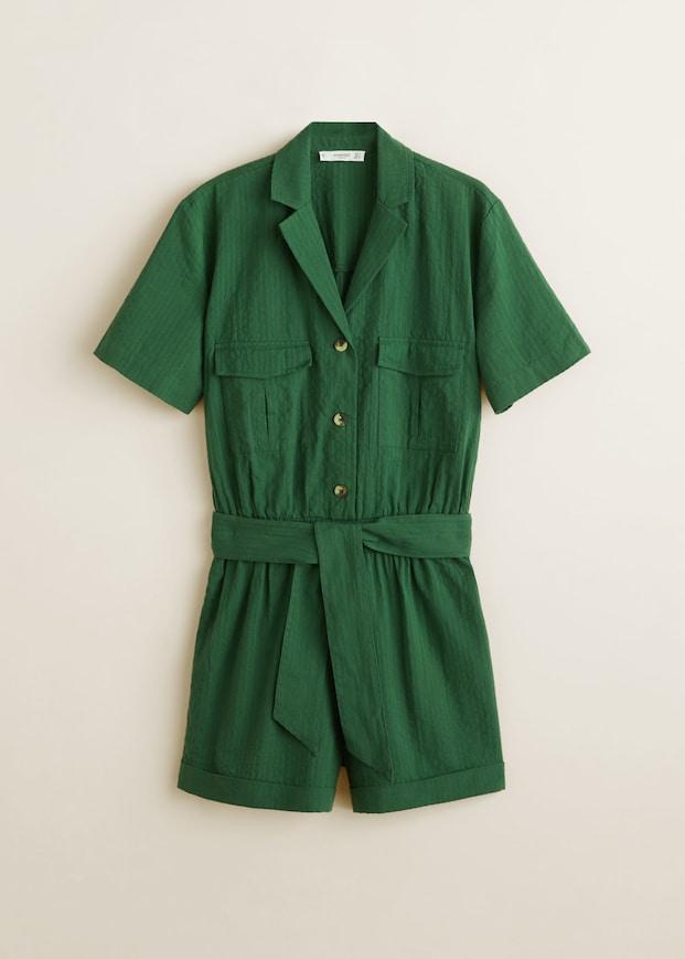 Cotton Pockets Jumpsuit