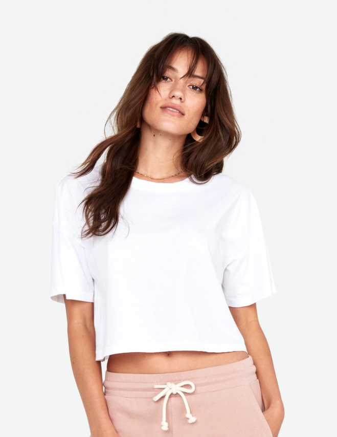 Boxy Cropped Crew Top