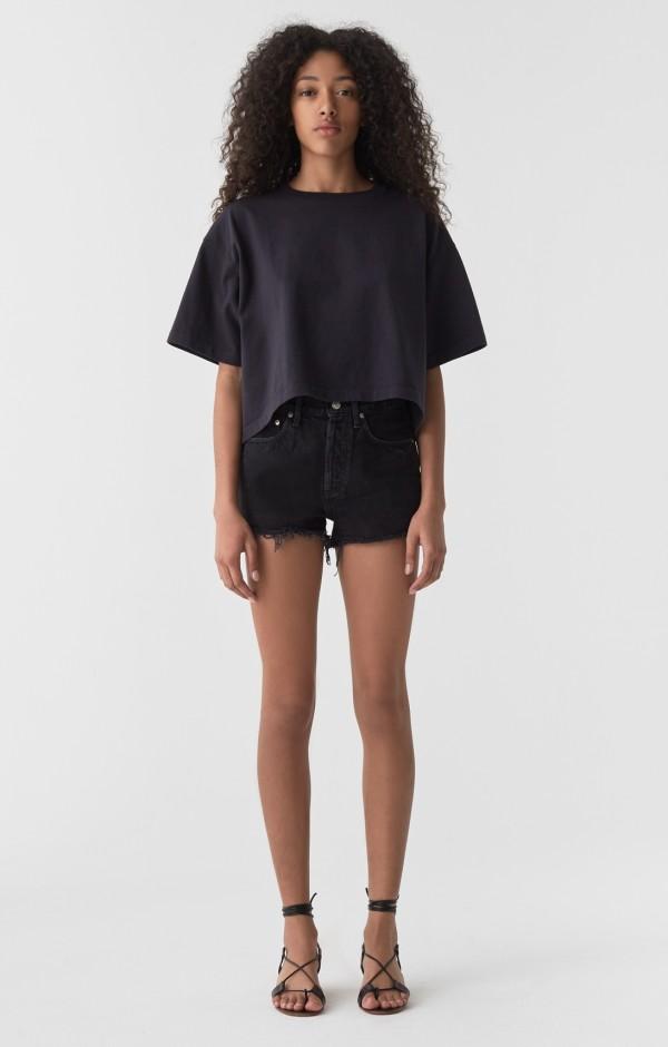 Agolde - Parker Vintage Cut Off Shorts In Tidal
