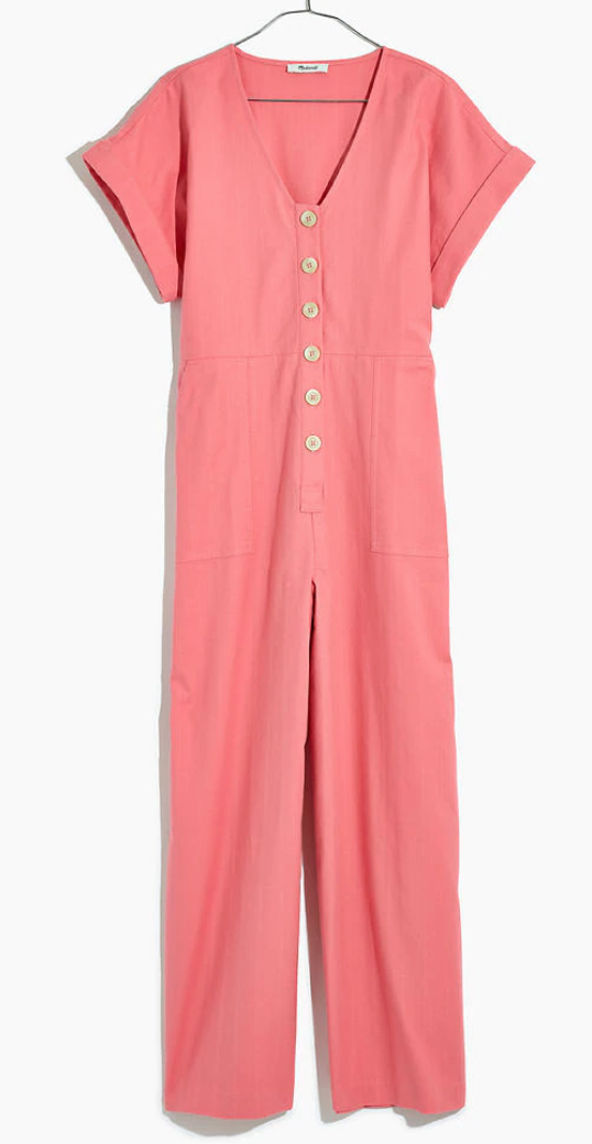 Button-Front Day Jumpsuit