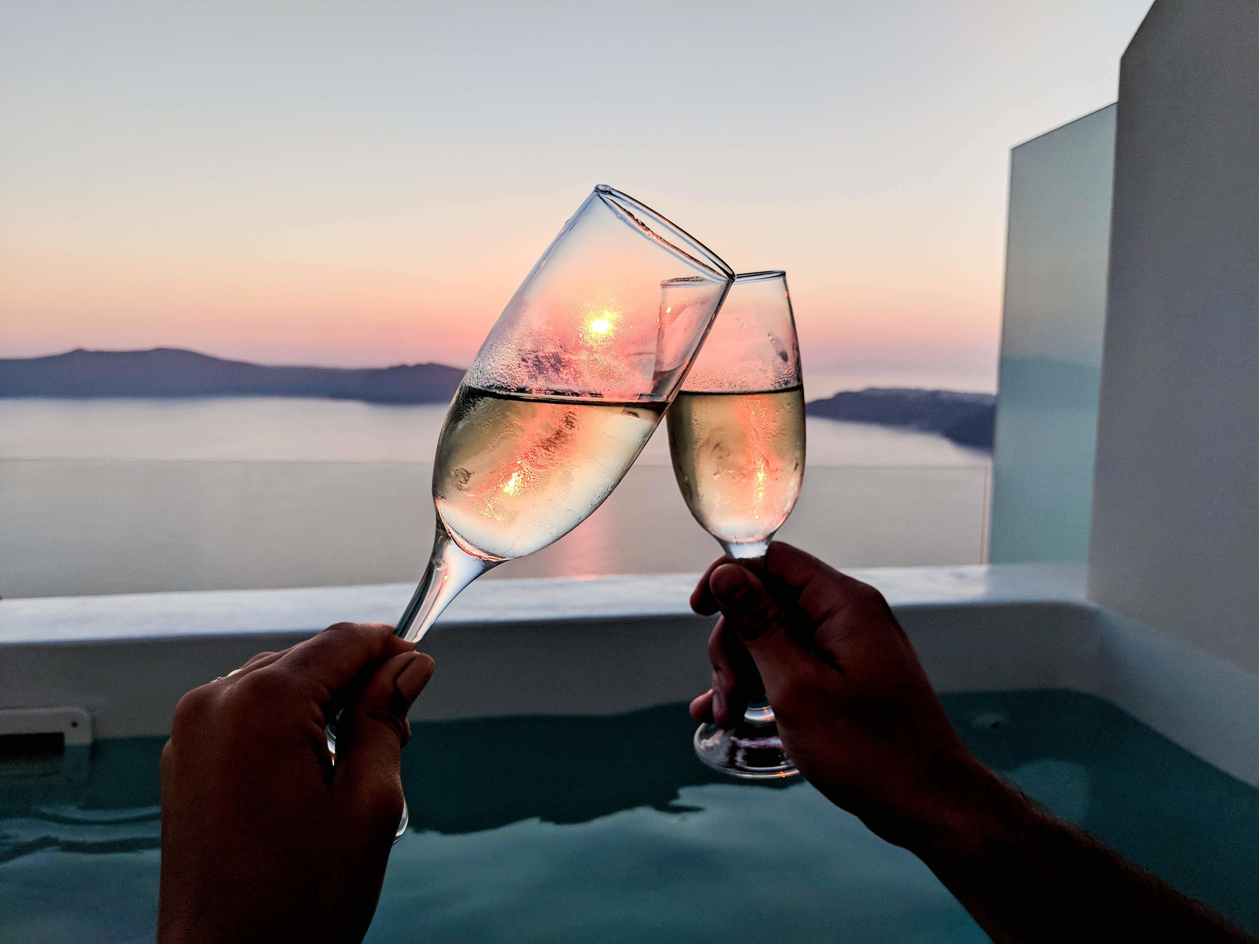 Always Looking For The Magic - Nicole Toland - Santorini Greece Honeymoon Trip