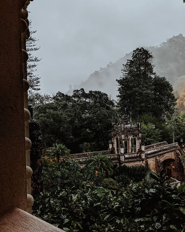 Yesterday we toured the magical land of Sintra.  I can't wait to edit the pictures with the epic fog rolling in the background, here's one for a sneak peak! #magicfoundhere #magicplacestogo