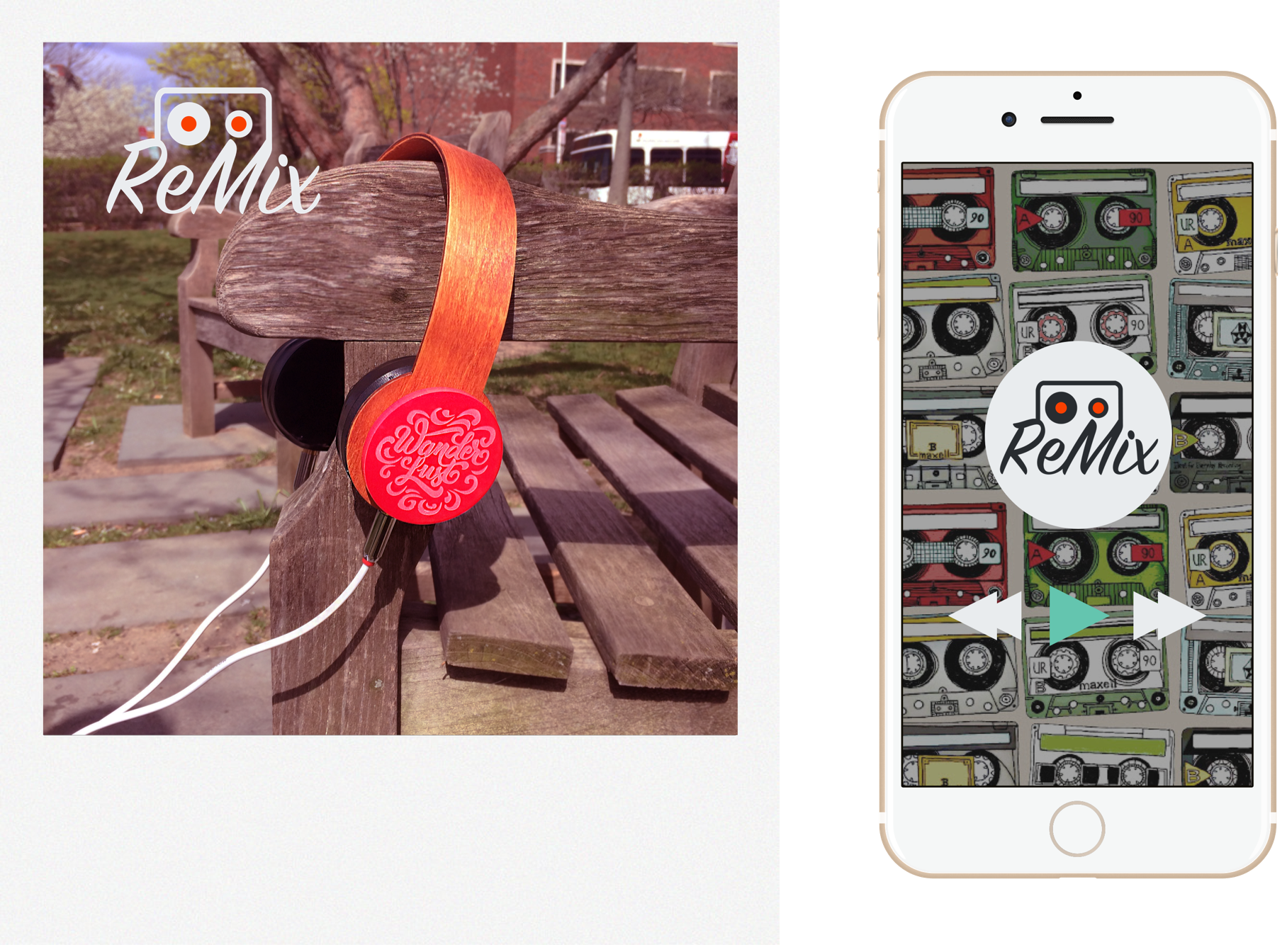 Headphones accompanied by a music app that channels mixtape culture to personalize the way we discover and share music.