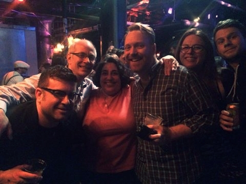 Me, Marjorie,  Kevin  & others at Underground Arts Philadelphia for RISK!
