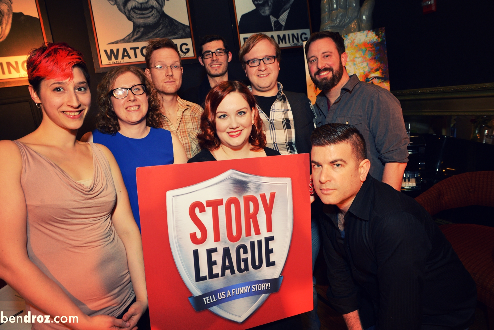 Aries, Jenny, Aaron,  Max , Diane, Nate, Jason, me at Story League (Photo: Ben Droz)