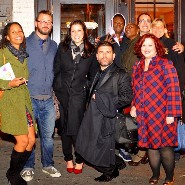 After a Story League show at Busboys and Poets, outside Marvin in DC. L-R, Valerie, Jason, Sarah, Me, Frandy, Stephanie, Melanie, Diane (Photo:  Ben Droz )