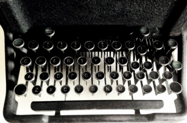 "I found this old typewriter in the ""garbage room"" in the basement. The ""S"" key (pictured separately) is now what I use as my favicon on this and my other websites."